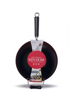Ken Hom 32cm Yapışmaz, Karbon Çelik Wok Tava