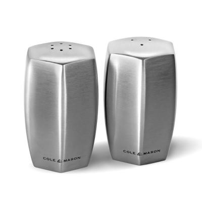 Cole & Mason H101849 Lymington Çelik Tuzluk Biberlik Seti - Thumbnail