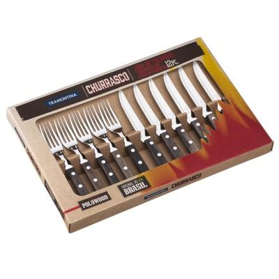 Tramontina Churrasco 21199/903 Çatal Bıçak Barbekü Seti (12li Kutu) - Thumbnail